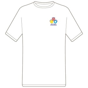 North Scarle Primary School PE T-Shirt (White)