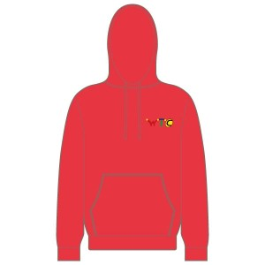 Washingborough Tennis Club Children's Hoodie - Red