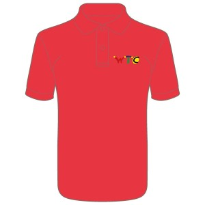 Washingborough Tennis Club Childrens Polo Shirt - Red or White